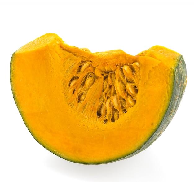 Pumpkin slice isolated on white background Free Photo
