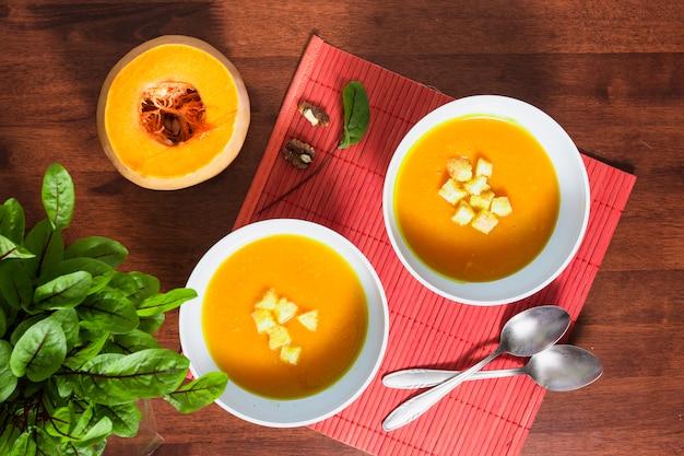 Pumpking soup Free Photo