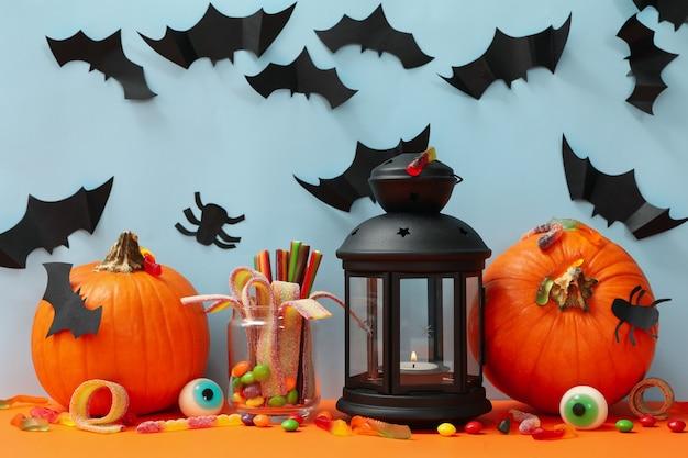 Halloween Pumpkin Accessories.Premium Photo Pumpkins And Halloween Accessories