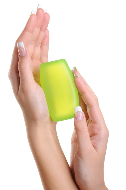 女性の手の清潔さと衛生 無料写真