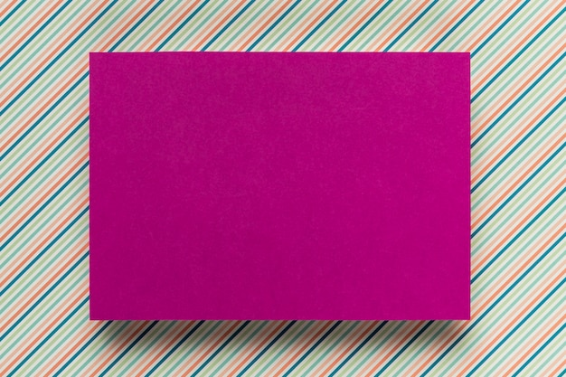 Purple card mock-up on simple background Free Photo