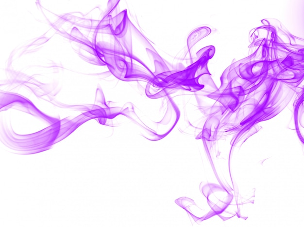 Purple smoke abstract on white background Premium Photo