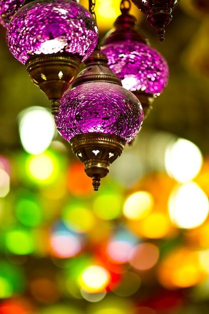 Purple Turkish Lamp Free Photo