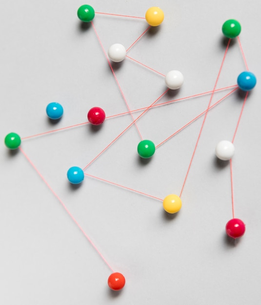 Pushpin map high view Free Photo