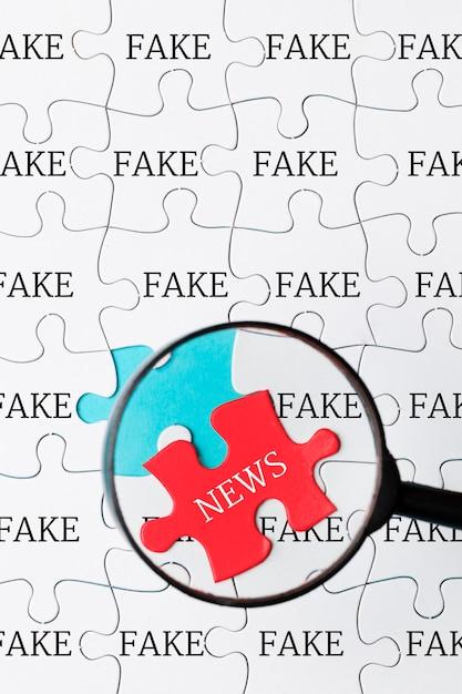 偽のニュースのパズル 無料写真