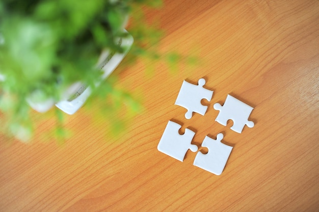 Puzzles are like unity in the group  Photo | Premium Download