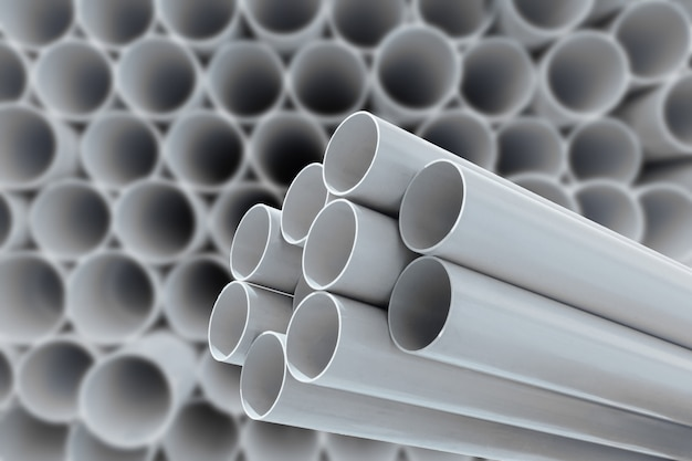 Pvc pipes for drinking water. Premium Photo