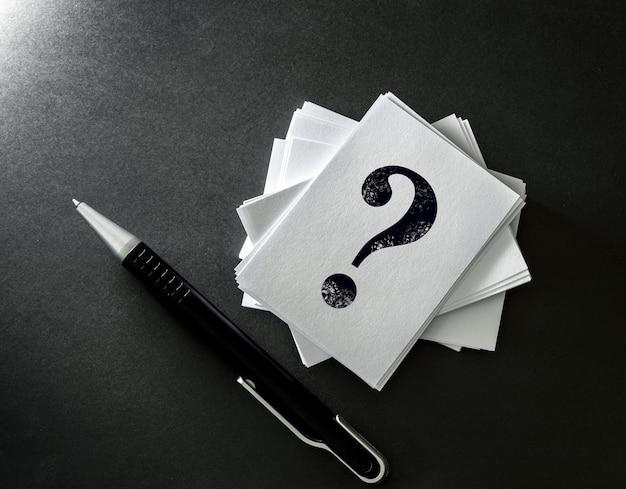 Вопросы и ответы или дизайн концепции q & a Premium Фотографии