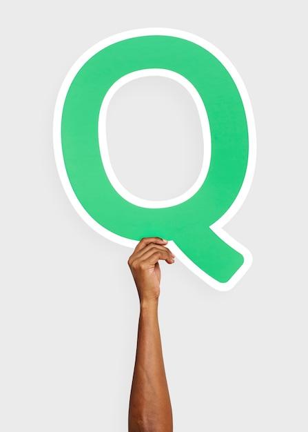 Рука с буквой q Бесплатные Фотографии