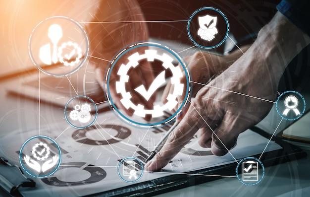 Qa quality assurance and quality control concept Premium Photo