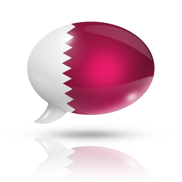 Qatar flag speech bubble Premium Photo