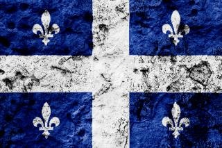 Quebec grunge flag  blue Free Photo