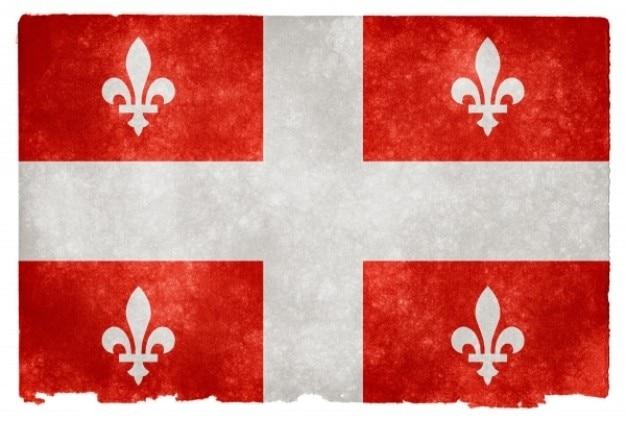 Quebec grunge flag   red Free Photo