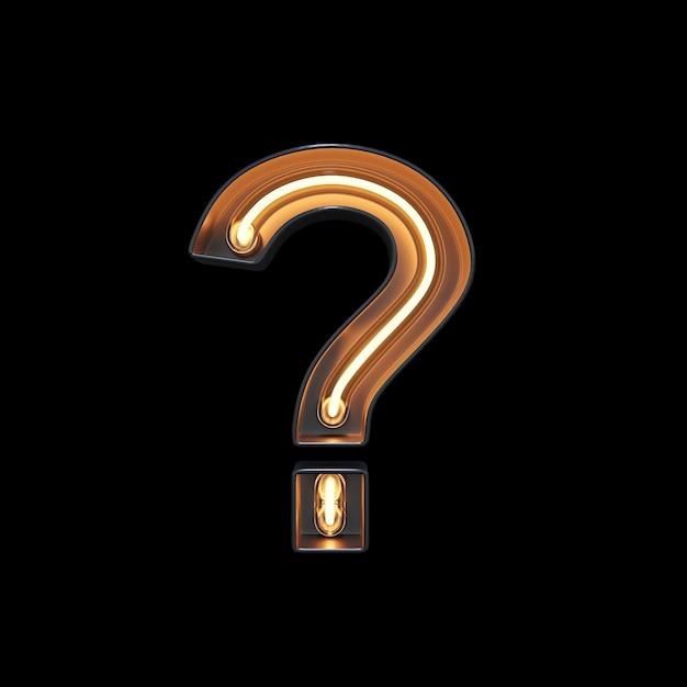 Question mark symbol made of neon light Premium Photo