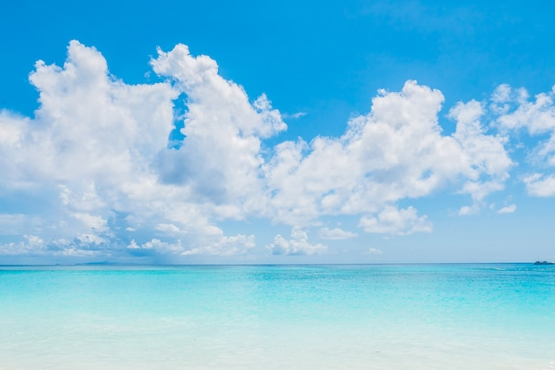 Quiet sea with blue sky Photo Free Download