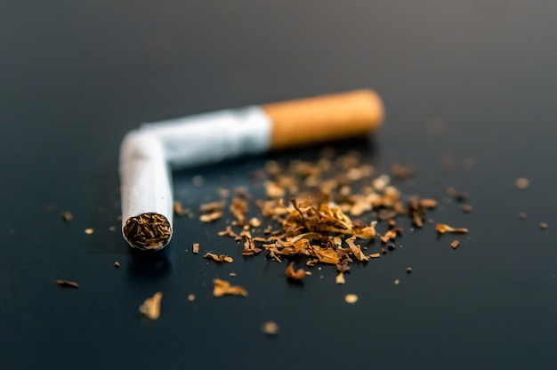Quiting nicotine and tobacco addiction abstract concept. copy s Free Photo