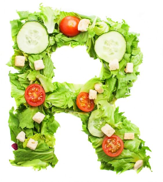 文字rのための生鮮食品 無料写真