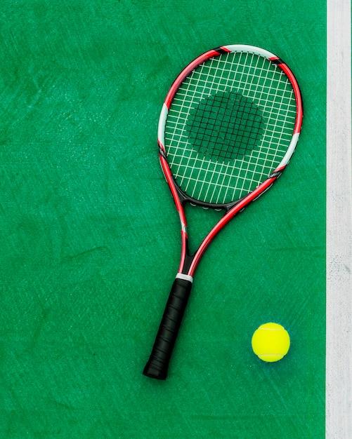 Racket tennis ball sport equipment concept Free Photo
