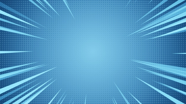 Radial background of halftones and high-speed abstract lines Premium Photo