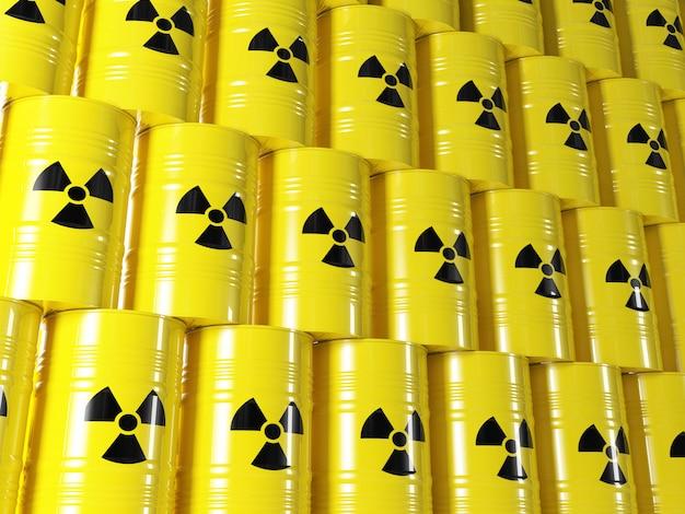 Radioactive barrel Premium Photo