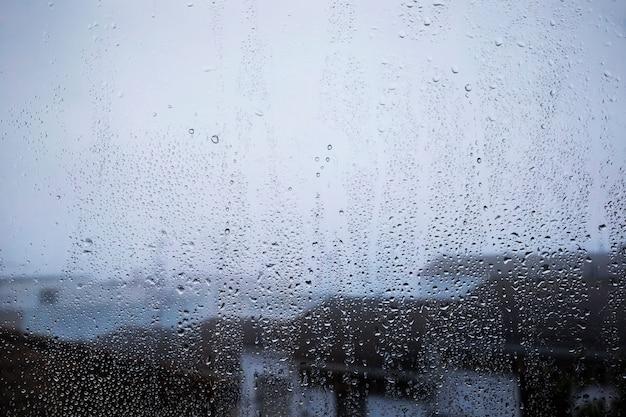 Rain effect on beach background Premium Photo