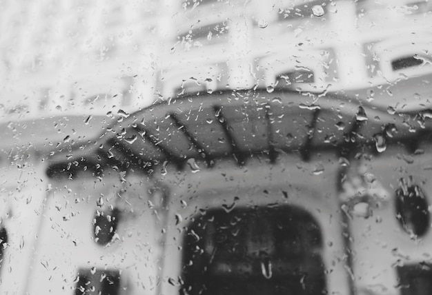Rain storm street abstract blur dirty drizzle concept Free Photo