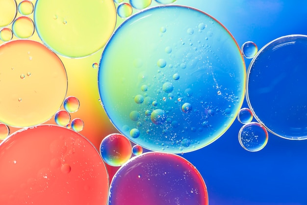 Rainbow abstract bubbles texture Free Photo