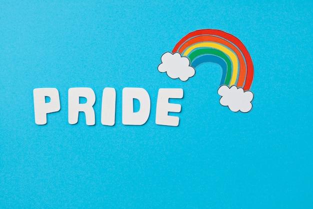 Rainbow color stripes symbol of lgbt gay pride. copy space Premium Photo