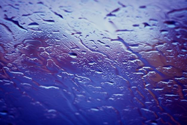 Raindrops on a window Premium Photo