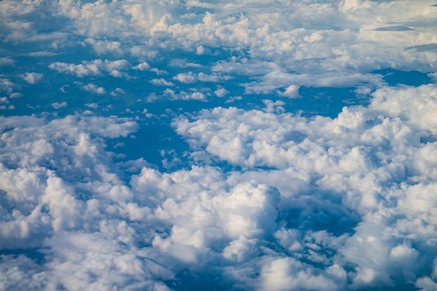 Raining cloud view from above. Premium Photo