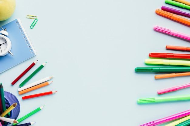 Range of bright art supplies Free Photo