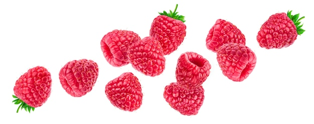 Raspberry isolated on white background Premium Photo