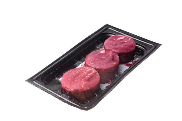 Raw beef isolated Premium Photo