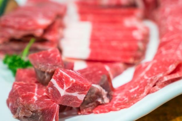 Raw fresh  beef Free Photo