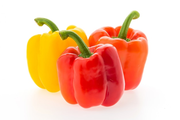 Raw group peppers vegetable bell Free Photo