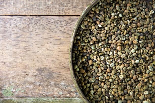 Raw kopi luwak coffee beans on coffee farm Premium Photo
