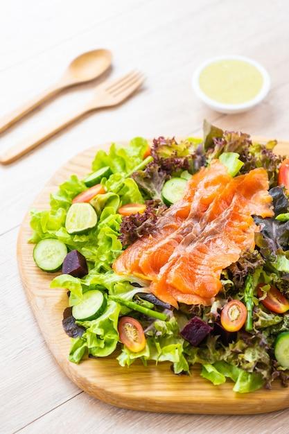 Raw smoked salmon meat fish Free Photo