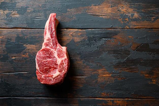 Сырая сырая говядина блэк ангус Premium Фотографии