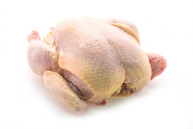 Raw whole chicken Free Photo