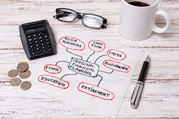 Reading glasses for personal planning finances Free Photo