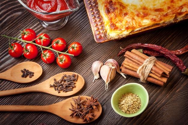 Ready lasagna Premium Photo