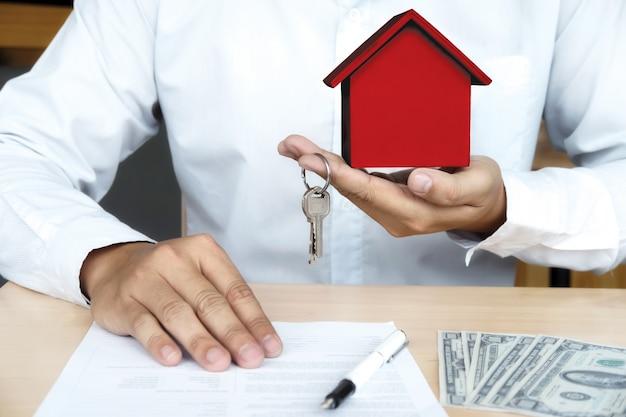 Концепция недвижимости и страхования Premium Фотографии