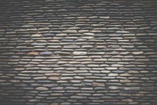 Real stone wall surface ,dark retro filter Free Photo