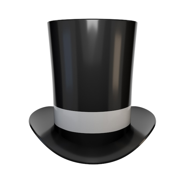 Realistic image of high hats. retro cylinder cap Premium Photo
