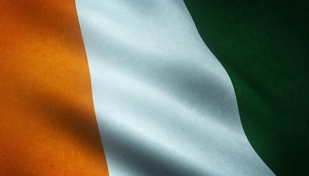 コートジボワールの旗のリアルなレンダリング 無料写真