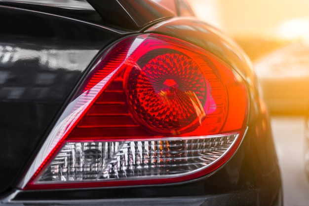Rear light on new dark car Free Photo