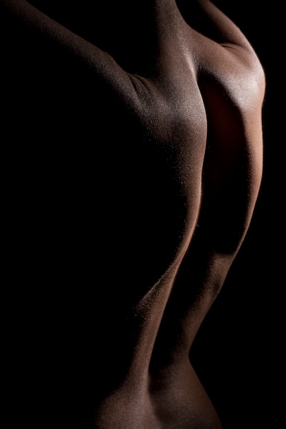Rear view of attractive back Free Photo