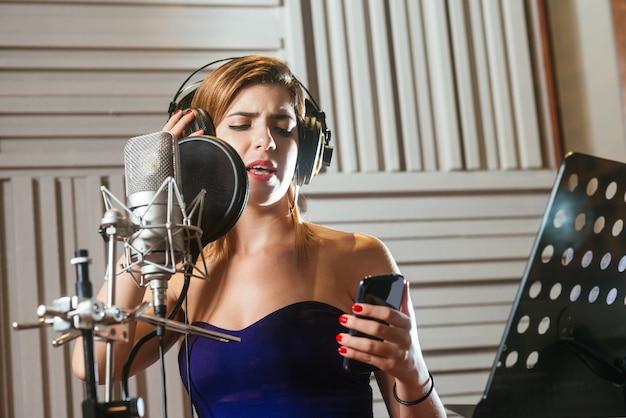 Recording a song Premium Photo