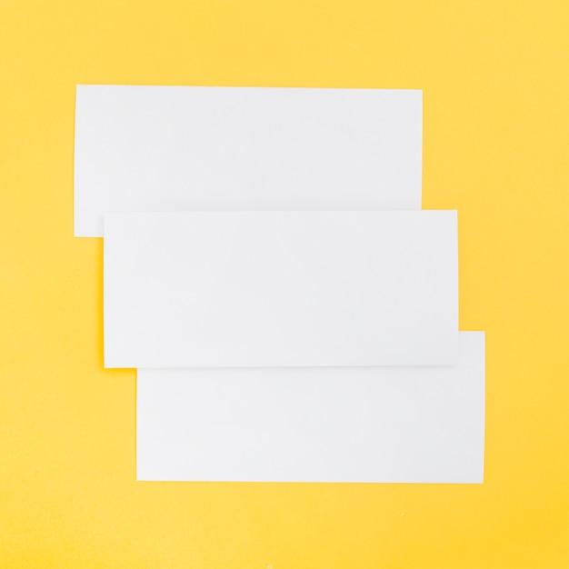Rectangle brochure shape Free Photo