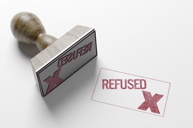 Rectangular stamp- 3d rendering Premium Photo